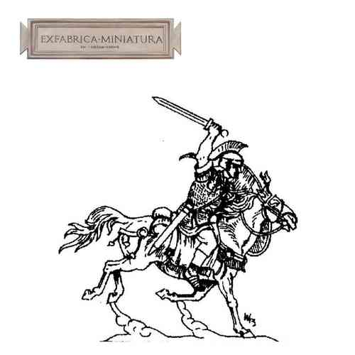 Roman cavalryman (decurion) in attack