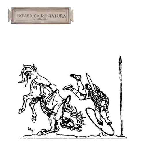 Roman cavalryman, have a fall