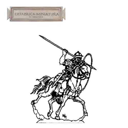 Roman cavalryman in attack